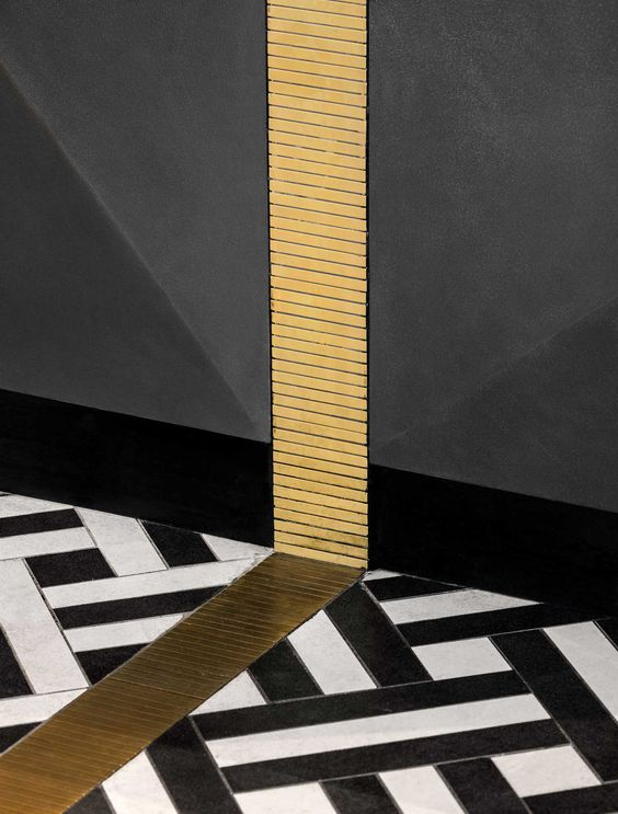 Marble Inlay Floor Gold : Brass floor inlay my website